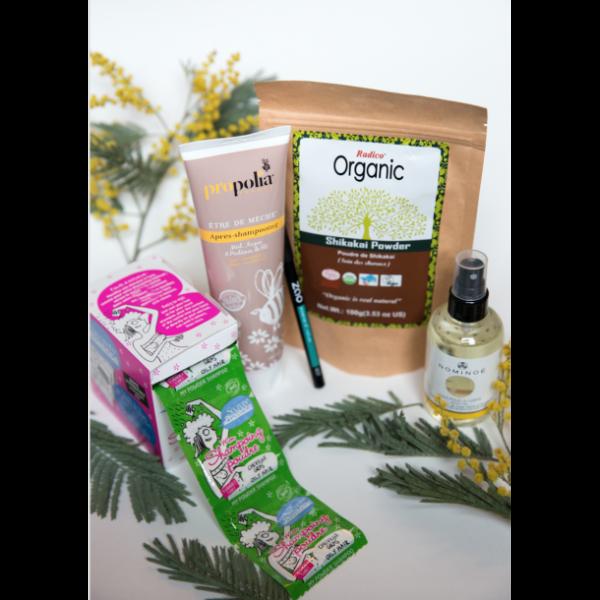 Ma box à cheveux, produits capillaire, soin, beauté, naturels, biologiques, , zao, crayon,nominoe, huile pour le coprs,organic, propolia
